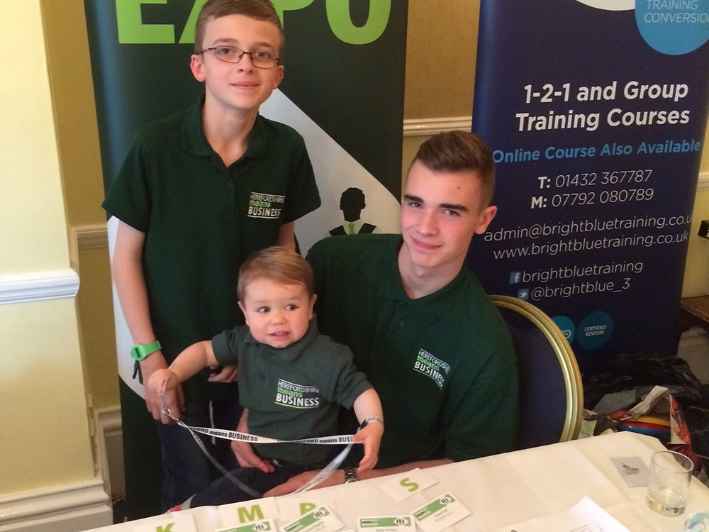Extra helpers at the Ross-on-Wye Means Business Expo
