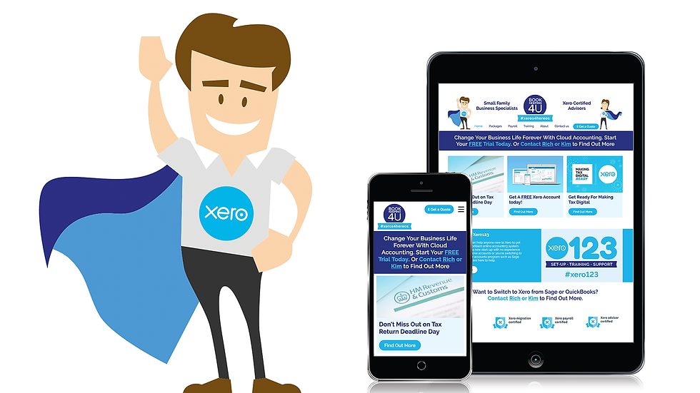 Responsive web design and illustrations makes bookkeeping a more appealing service