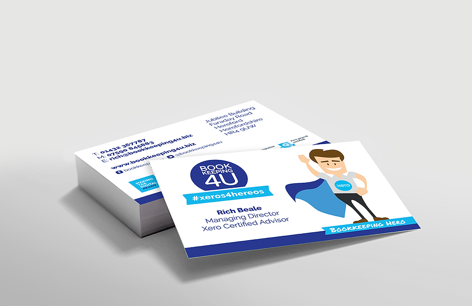 Bookkeeping4u modern and fresh business cards