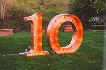 cifre luminoase de inchriat 120 cm - bou