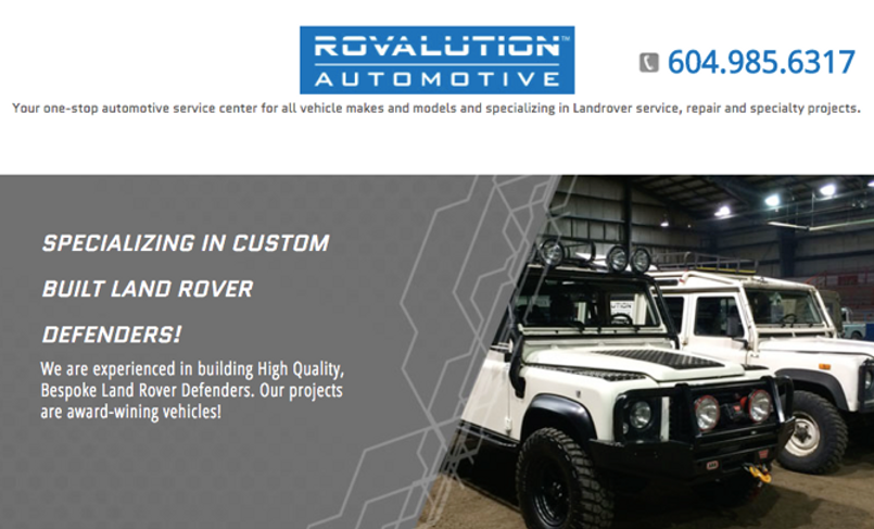 Rovalution Automotive in North Vancouver