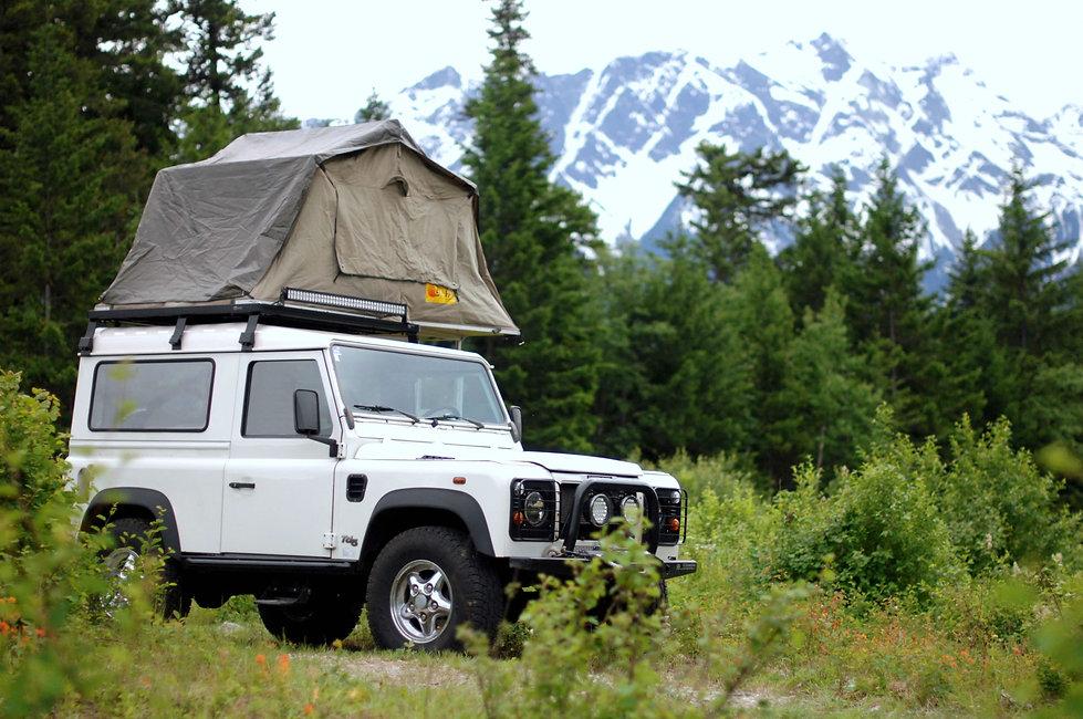 2000 Defender 90 TD5 rooftop tent in Pemberton, BC