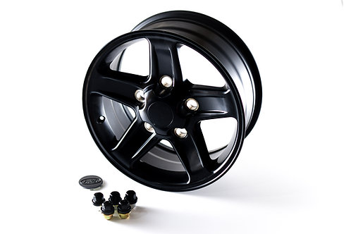 "18"" Satin Black Alloy Wheels - Set of 5"