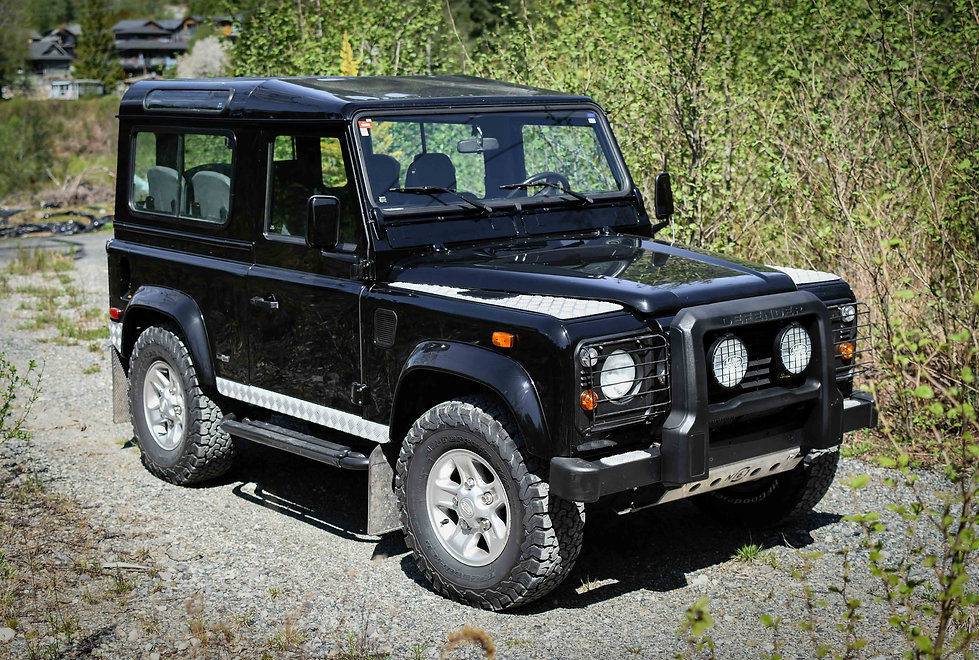 2005 Defender 90 Black front Pacific Off