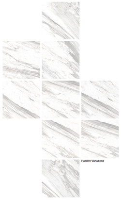 Dongpeng Bianco Carrara Pattern Variatio