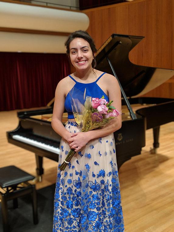 Student piano recital in Comstock Hall