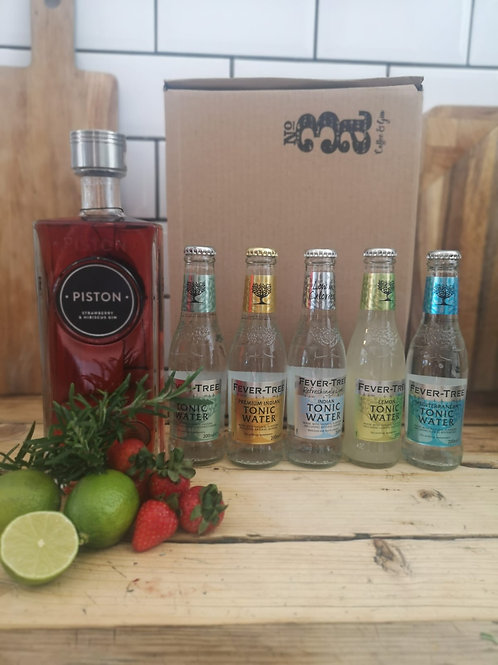 Piston Strawberry & Hibiscus gin hamper