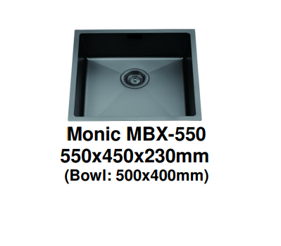 Black Stainless Kitchen Sink Monic
