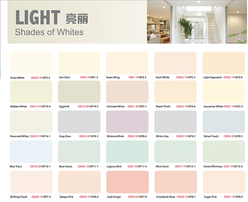 Ion Paint Shades of White Catalogue
