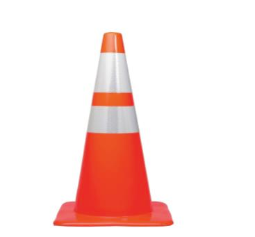 Safety Cone with Reflective Tape 70cm