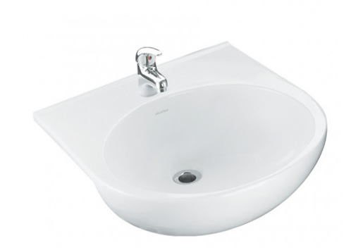 Johnson Suisse Arosa Semi-Recessed Basin 500mm x 560mm