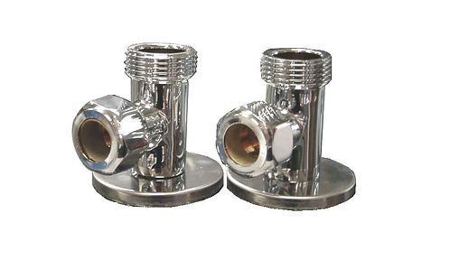 "T-0026  1/2"" x 3/4"" Shower Mixer Flange Elbow"
