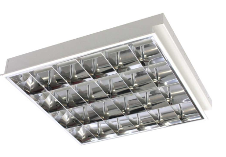 Recessed Lighting Louvre full set with 2 tubes ( Fluorescent)
