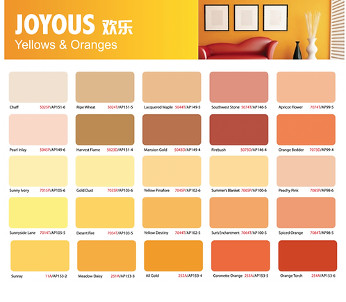 Ion Paint Yellow & Orange Catalogue
