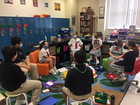 """Week #3 Elementary Studio -""""Sitting like Scholars"""""""