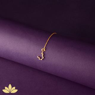 Gold Watch Charm - Aquarius Constellatio