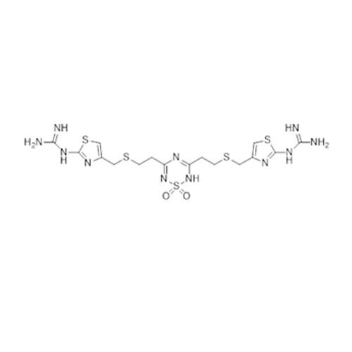 Guanidine, N,N'''-[(1,1-dioxido-2H-1,2,4,6-thiatriazine-3,5-diyl)bis(2,1-ethanediylthiomethylene-4,2-thiazolediyl)]bis-