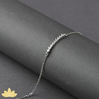 B006 - Delicate 7-Stone Stackable Bracelet