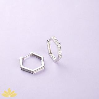 E049 - Hexagon Bali Earrings