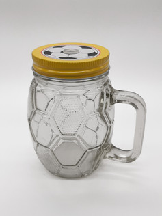 Football Mason Jar
