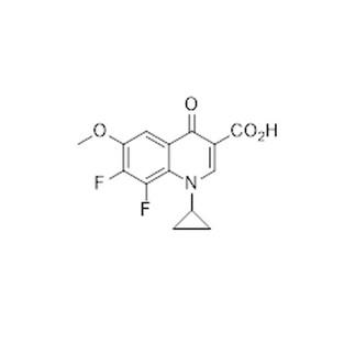 3-Quinolinecarboxylic acid, 1-cyclopropyl-7,8-difluoro-1,4-dihydro-6-methoxy-4-oxo