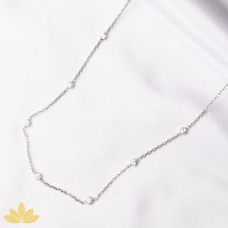 N007 - Small Circle Stone Chain