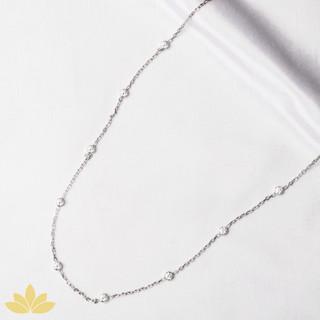 N005 - Medium Circle Stone Chain