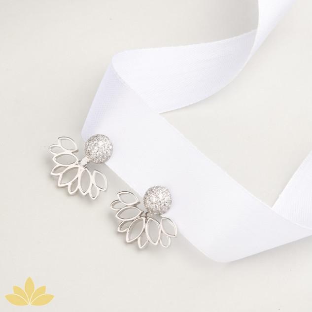 E022 - Lotus Bloom Jacket Earrings