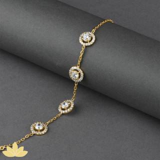 B034 - Gold 4-Stone Tennis Bracelet