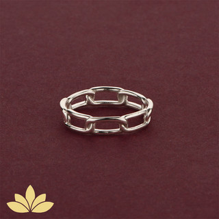 WR02 - Silver Chain Ring