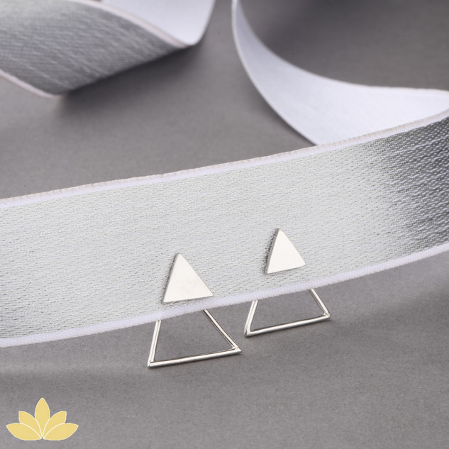 E025 - Triangle Jacket Earring