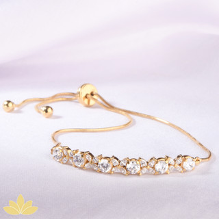 B025 - Gold Marquee Toggle Bracelet