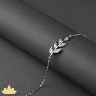 B015 - Embellished Leaf Bracelet