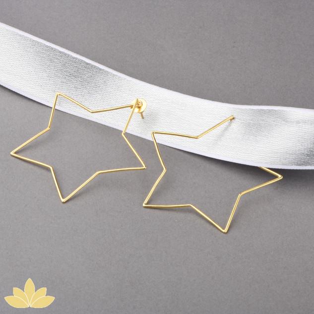 E042 - Gold Star Hoops