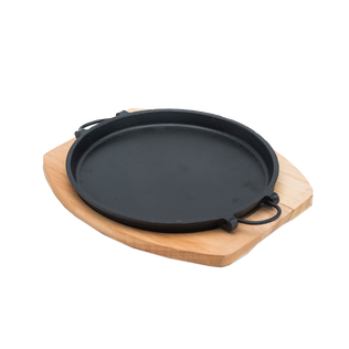 Round Sizzler Plate With Wire Handle