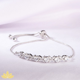 B024 - Silver Marquee Toggle Bracelet