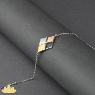 B020 - Tri-colour Diamond Shape Bracelet