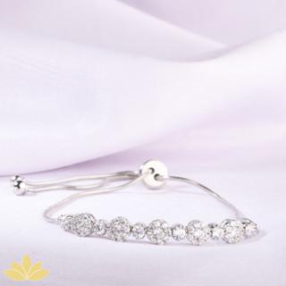 B026 - Silver Circle Adjustable Bracelet