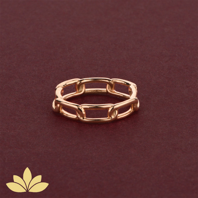 WR03 - Rose Gold Chain Ring