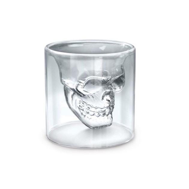 Double Wall Skull Shot Glass