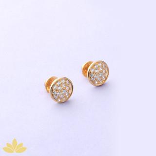E036 - Gold Disco Ball Earrings