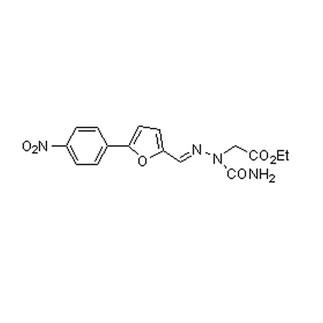 Acetic acid, [(aminocarbonyl)[[5-(4-nitrophenyl)-2-furanyl]methylene]hydrazino]-, ethyl ester