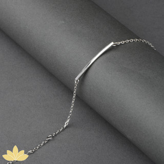 B004 - Silver Bar Stackable Bracelet