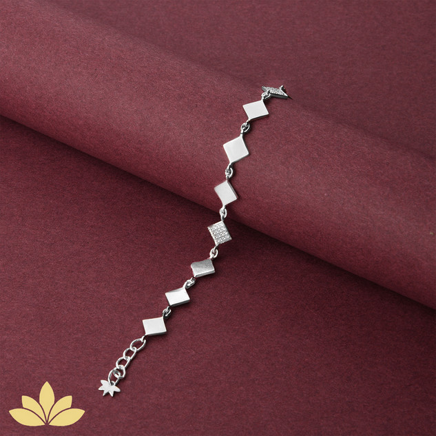 WB04 - 1 to 3 Square Bracelet in Silver