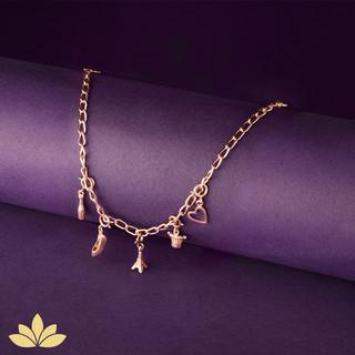 Rose Gold Charm Bracelet - Paris Inspire