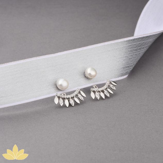 E002 - Pearl Jacket Earrings