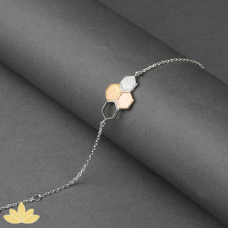 B028 - Tri-colour Honeycomb Bracelet