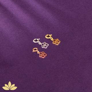 Larkspur - July Birth Flower Charm