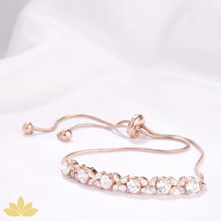 B030 - Rose Gold Marquee Toggle Bracelet