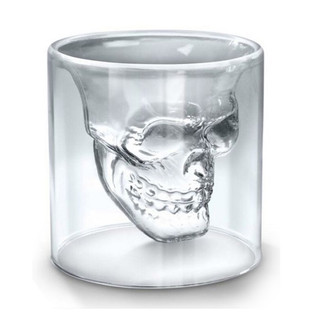 Double Wall Skull Glass